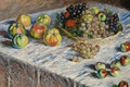 Picture Claude Monet, Still life. Apples and Grapes, table, picture