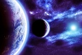 Picture Planet, Fractal Space, Stars, Space, Blue, Glow, Light