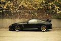 Picture Toyota supra, Tuning auto, the view from the side, the city, cars, leaves, auto, wallpapers ...