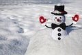 Picture winter, snow, snowflakes, smile, background, Wallpaper, butterfly, mood, positive, buttons, snowman, widescreen, mittens, full screen, ...