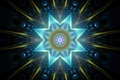 Picture rays, light, corners, figure, line, flower, petals, symmetry, pattern, star