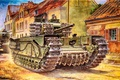 Picture Art, Tank, Churchill, during the Second world war, Churchill, Infantry tank army