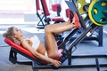 Picture legs, gym, workout, blonde, fitness