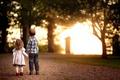 Picture road, light, children