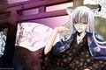 Picture flowers, guy, kimono, ears, Kamisaa The Hajimemashita, Tomoe, Very nice God, the demon-Fox