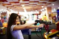 Picture the game, the world of entertainment, face, goal, Darina, hair, guns, girl