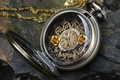 Picture stone, key, dial, chain, watch