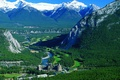 Picture forest, mountains, river, Canada, the hotel, Canada, hotel, Banff national park, Fairmont Banff Springs
