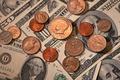 Picture Eagle, coins, Washington, money, dollars, Benjamin Franklin