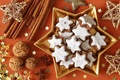 Picture holiday, stars, Christmas Wallpaper, sweet, cookies, christmas decoration, nuts, happy new year, new year, holiday ...