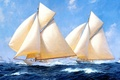 Picture picture, ship, the sky, sailboat, yachts, J. Steven Dews, wave, stormy sea, clouds