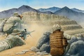 Picture weapons, mountains, art, soldiers, Afghanistan, equipment