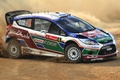 Picture Ford, Machine, Auto, Dust, Fiesta, Side view, Skid, WRC, Rally, Sport, Ford, Rally