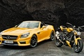 Picture Mercedes-Benz, AMG, ducati, convertible, Mercedes, R172, SLK-Class, AMG, yellow