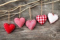 Picture thread, rope, red, hearts, fabric, white, Board, heart, figures