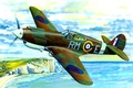 Picture war, art, airplane, painting, aviation, ww2, Curtiss P-40B