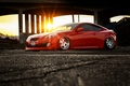 Picture red, tuning, rechange, Hyundai Genesis, hq Wallpapers, car, tuning, stance