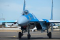 Picture the airfield, fighter, Sukhoi, Su-27