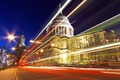 Picture lights, UK, night, movement, London, St. Paul's Cathedral