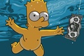 Picture cartoon, The simpsons, simpsons, Bart, Nevermind, Nirvana