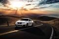 Picture Car, M235i, Sunrise, Before, Garde, San Jose, Sunset, Road, Front, Wheels, BMW, Mountains