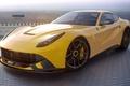 Picture Ferrari, Front, Yellow, Supercar, Berlinetta, F12, Jackdarton
