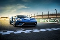 Picture supercar, markup, supercar, blue, track, Ford, blue, Ford