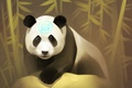 Picture look, bear, Panda, forest, art