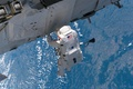 Picture astronaut, Space, Earth, ISS, blue planet