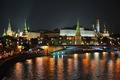 Picture lights, night, the city, Moscow