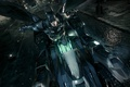 Picture Batman, night, betmobil, Batman:Arkham Knight, plase