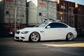 Picture bmw, white, tuning, power, germany, low, e92, stance