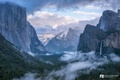 Picture landscape, mountains, clouds, nature, Park, waterfall, Yosemite