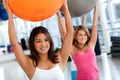 Picture ball women, training, gym, exercises, gym balls