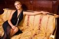Picture girl, style, sofa, mood, pearl, beautiful furniture