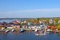 Picture Vaxholm, pier, pierce, Sweden, coast, the city