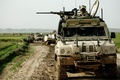 Picture weapons, Plain, road, grass, dirt, equipment, column, military