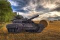 Picture Sunset, Autumn, Ukraine, T-64, APU, Bulat