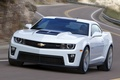 Picture muscle car, Muscle car, road, white, coupe, Chevrolet, the front, camaro, chevrolet, Camaro, zl1