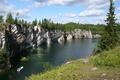Picture river, open, rocks