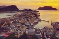 Picture View, The city, Over Alesund, Norway, Norway, View, Home, The ocean, Sunset, Sunnmre, Mre and ...