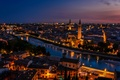 Picture lights, Verona, twilight, Italy, sunset