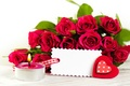 Picture flowers, romance, roses, candle, heart, Valentine's day, Valentine's day