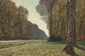 Picture landscape, tree, picture, Claude Monet, The road from Chailly