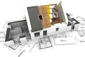 Picture house, layout, drawing