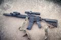 Picture strap, muffler, weapons, assault rifle, optics