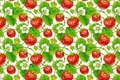 Picture flowers, background, texture, strawberries, berry, art