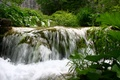Picture waterfall, water, greens, nature, summer, landscape