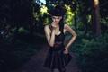 Picture Sascha Tranberg, look, FlashnModels, in black, girl, brunette, skirt, girl, model, top, model