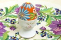 Picture glass, Pysanka, tablecloth, pattern, egg, Easter
